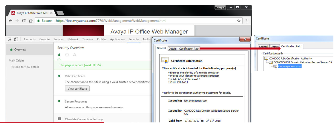 Create 3rd party Certificate for IP Office – IP Office