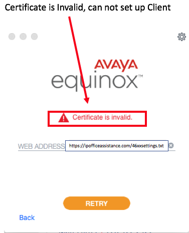 Equinox on IPO R11 with Self Signed Certificate – IP Office Assistance